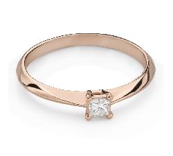 "Engagement ring with diamond ""Princess 117"""