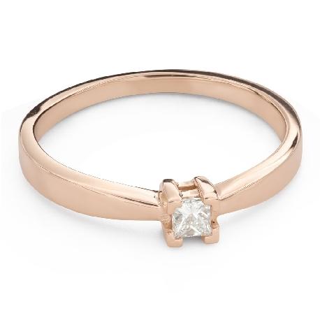 "Engagement ring with diamond ""Princess 118"""