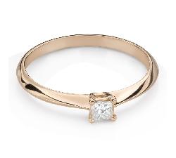 "Engagement ring with diamond ""Princess 119"""