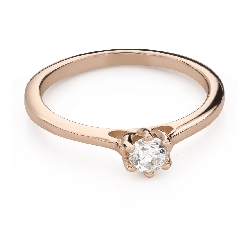 """Engagement ring with brilliant """"Queen of the Heart 37"""""""