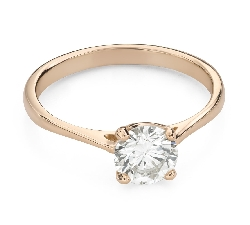 """Engagement ring with brilliant """"Goddess 218"""""""