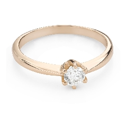 """Engagement ring with brilliant """"The queen 80"""""""