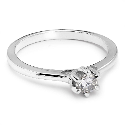 """Engagement ring with brilliant """"Queen of the Heart 39"""""""