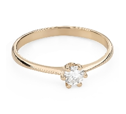 """Engagement ring with brilliant """"The queen 81"""""""
