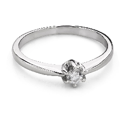 """Engagement ring with brilliant """"The queen 84"""""""
