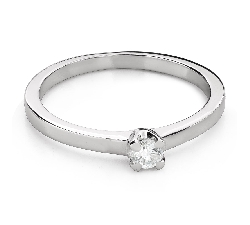 """Engagement ring with brilliant """"Goddess 223"""""""