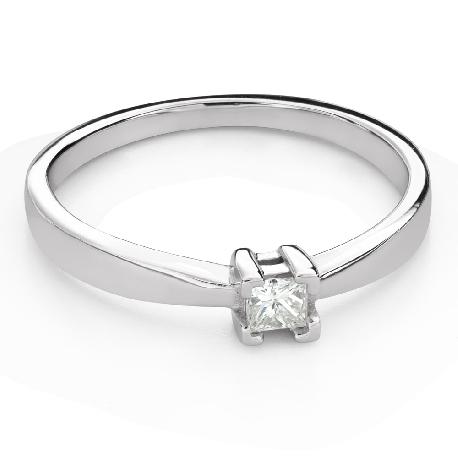 "Engagement ring with diamond ""Princess 121"""