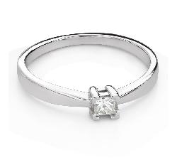 "Engagement ring with diamond ""Princess 122"""