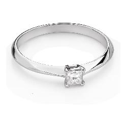 "Engagement ring with diamond ""Princess 124"""