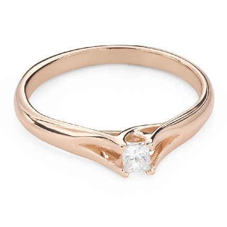 "Engagement ring with diamond ""Princess 125"""