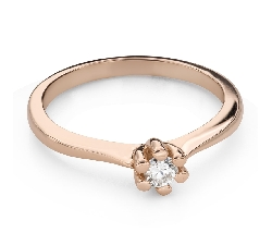 """Engagement ring with brilliant """"The queen 87"""""""