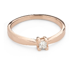 """Engagement ring with brilliant """"Princess 127"""""""