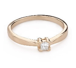 """Engagement ring with brilliant """"Princess 128"""""""