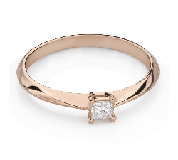 """Engagement ring with brilliant """"Princess 130"""""""