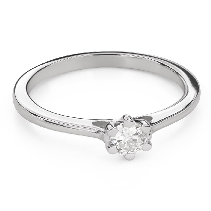"""Engagement ring with brilliant """"Queen of the Heart 41"""""""