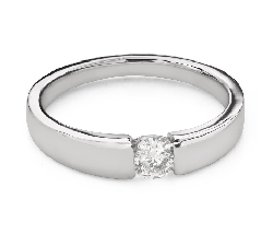 """Engagement ring with brilliant """"Between the rocks 65"""""""