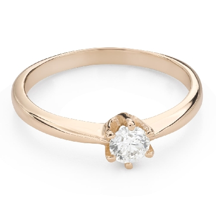 """Engagement ring with brilliant """"The queen 91"""""""