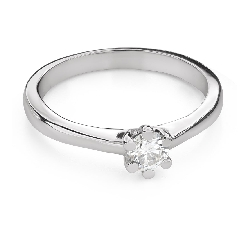 """Engagement ring with brilliant """"The queen 97"""""""