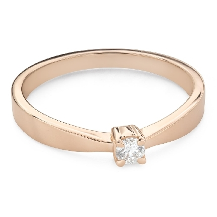"""Engagement ring with brilliant """"Strength 146"""""""