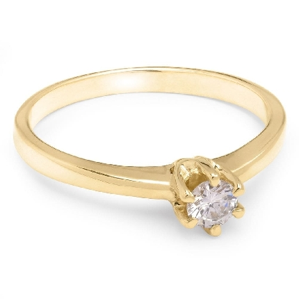 """Engagement ring with brilliant """"The queen 98"""""""