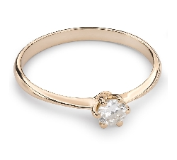 """Engagement ring with brilliant """"The queen 100"""""""