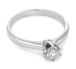 """Engagement ring with brilliant """"The queen 101"""""""