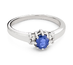"""Engagement ring with gemstones """"Sapphire 39"""""""