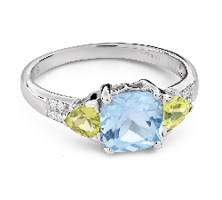"""Gold ring with gemstones """"Colors 101"""""""