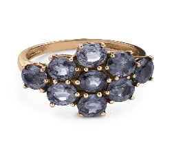 """Engagement ring with gemstones """"Sapphire 40"""""""