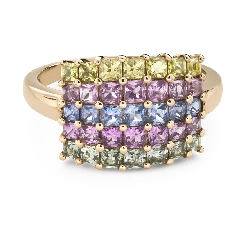 """Engagement ring with gemstones """"Sapphire 41"""""""
