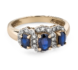 """Engagement ring with gemstones """"Sapphire 42"""""""