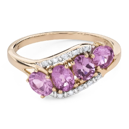 """Engagement ring with gemstones """"Sapphire 43"""""""
