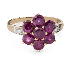 """Engagement ring with gemstones """"Colors 106"""""""