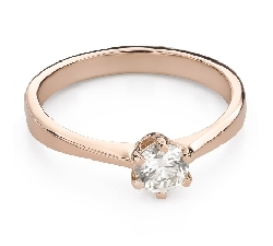 """Engagement ring with brilliant """"The queen 102"""""""