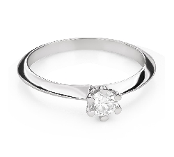 """Engagement ring with brilliant """"The queen 104"""""""