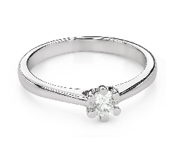 """Engagement ring with brilliant """"The queen 105"""""""