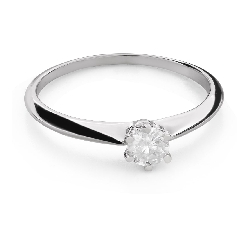"""Engagement ring with brilliant """"The queen 107"""""""