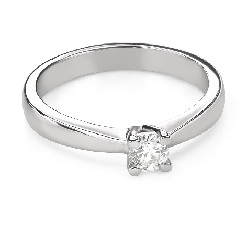 """Engagement ring with brilliant """"Goddess 240"""""""