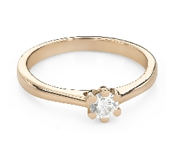 """Engagement ring with brilliant """"The queen 112"""""""