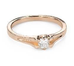 """Engagement ring with brilliant """"The only one 151"""""""