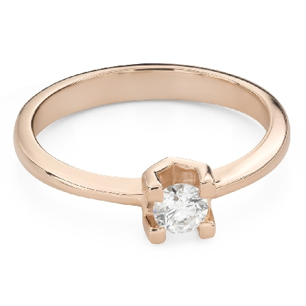 """Engagement ring with brilliant """"Goddess 242"""""""