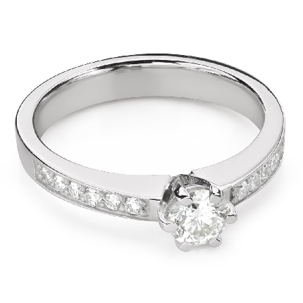 """Engagment ring with brilliants """"Grace 153"""""""