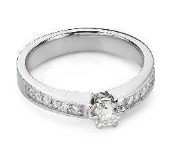 """Engagment ring with brilliants """"Grace 151"""""""