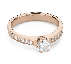 """Engagment ring with brilliants """"Grace 154"""""""