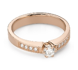 """Engagment ring with brilliants """"Grace 152"""""""