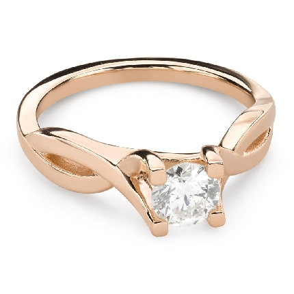 """Engagement ring with brilliant """"Intertwined destinies 66"""""""
