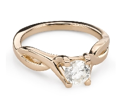 """Engagement ring with brilliant """"Intertwined destinies 67"""""""