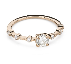 """Engagment ring with brilliants """"Elegance 27"""""""