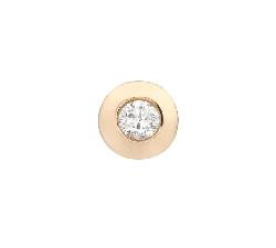 "Gold pendant with brilliant ""Classic 73"""