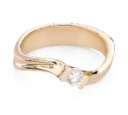 """Engagement ring with brilliant """"In love 67"""""""